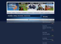 Web stránka Action sports je