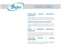 Web stránka BEFOR s.r.o. je
