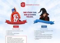 Web stránka CARNEVAL INTERNATIONAL s.r.o. je