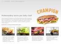 Web stránka Champion Food s.r.o. je