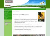 Web stránka Kovo S.r.o je