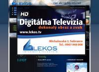Web stránka LEKOS s.r.o. je