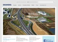Web stránka Skanska BS a.s. je