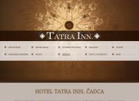 Web stránka Hotel Tatra inn. je
