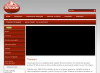 Web stránka Tatrakon, Spol. S R.o. je