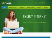 Web stránka Wircom s.r.o. je