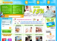 Web stránka Maderna je
