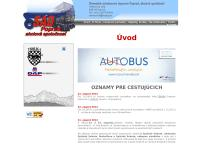 Web stránka Sad Poprad, A.s. Poprad je
