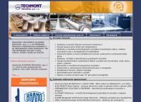 Web stránka Techmont Mochovce, Spol. S R.o. je