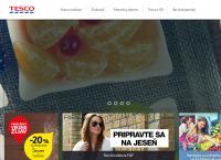 Web stránka Tesco Prievidza je