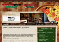 Web stránka Hotel a Reštaurácia Zelený Dvor je