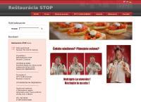 Web stránka Reštaurácia Stop je