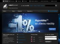 Web stránka Tatra Banka Nové Zámky je