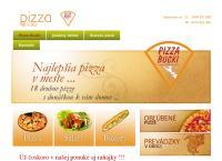 Web stránka Pizza Bucki Senec je