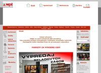 Web stránka Mpl Trading Spol. S. r. o. Prešov je