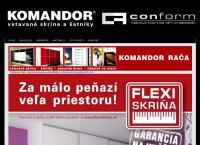 Web stránka Komandor Rača je