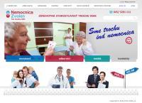 Web stránka Nemocnica Zvolen prevádzka Nemocnica Krupina je