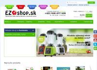 Web stránka EZOshop je