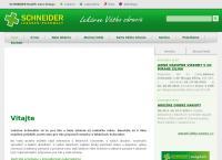 Web stránka SCHNEIDER Lekáreň/Pharmacy Sabinov je