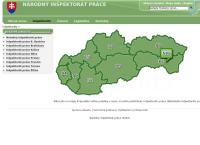 Web stránka Inšpektorát Práce Žilina je