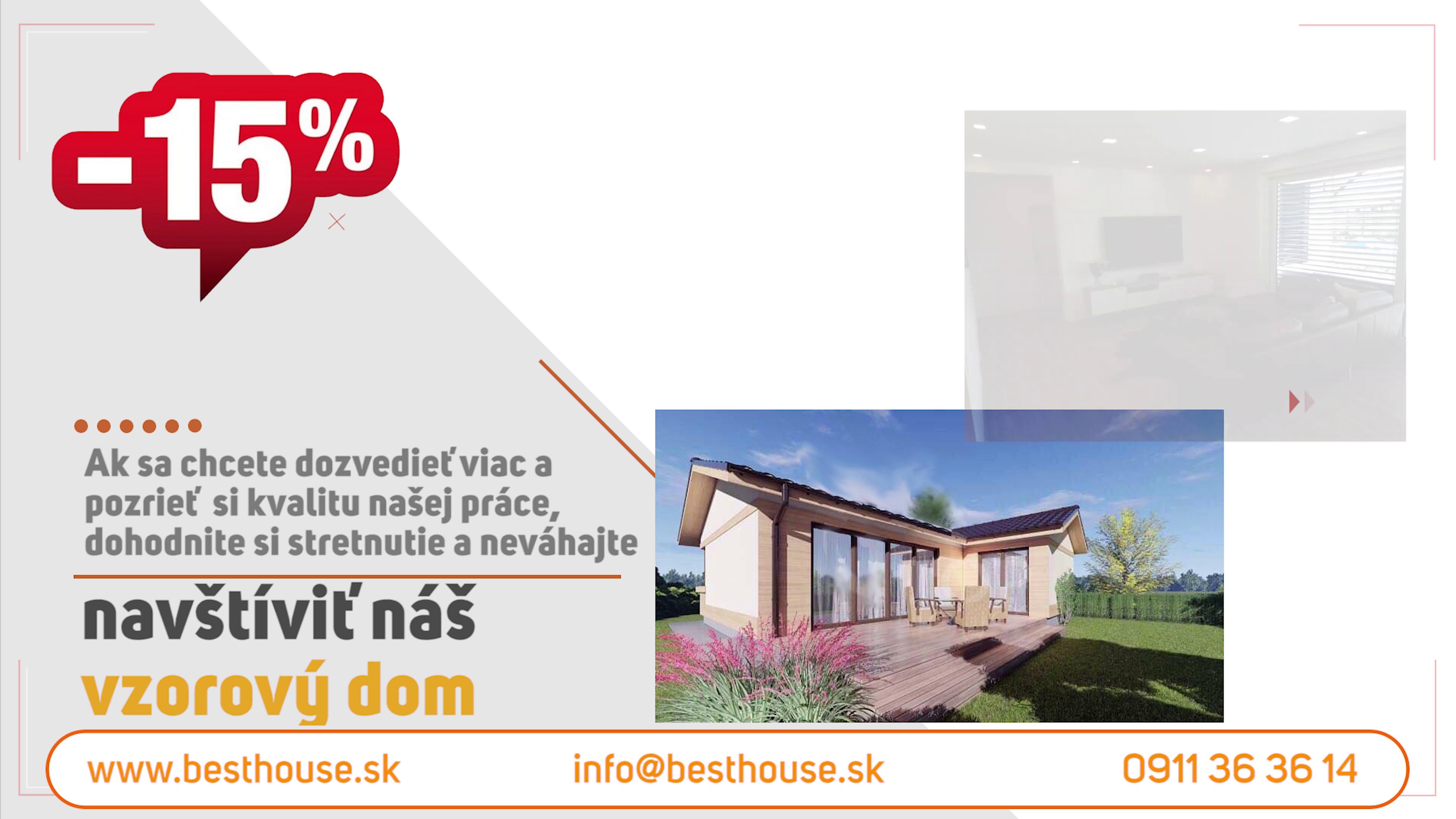 BEST HOUSE - Nízkoenergetické rodinné domy